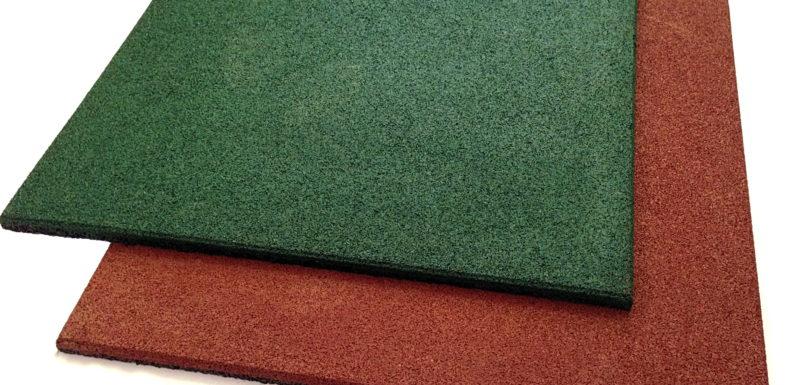 Новый материл для наружных и внутренних работ – резиновая плитка