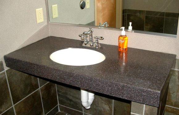 Столешница в ванную: делаем правильный выбор